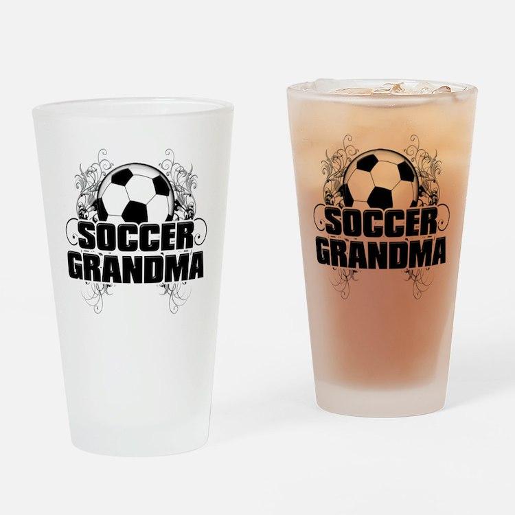 Soccer Grandma (cross).png Drinking Glass