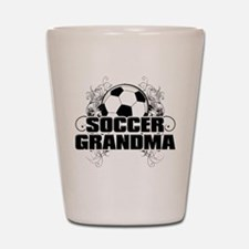 Soccer Grandma (cross).png Shot Glass