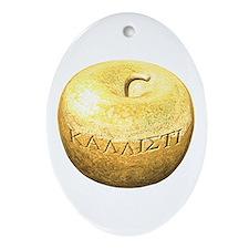 Golden Apple Kallisti Ornament (Oval)