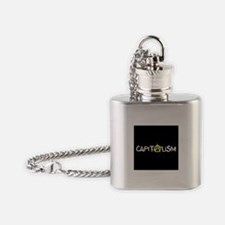 Anarcho-Capitalist Flask Necklace