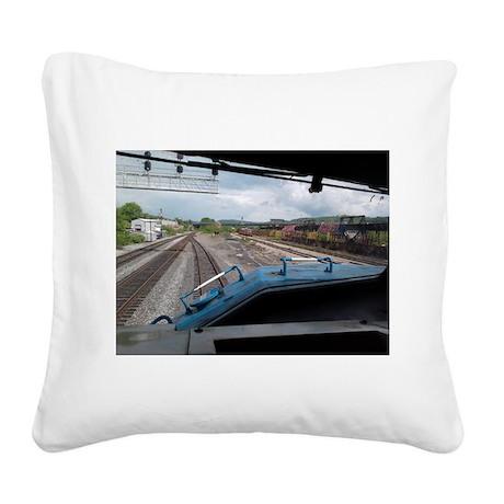 Conrail Ride Along Square Canvas Pillow