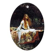 The Lady Of Shalott Ornament (Oval)