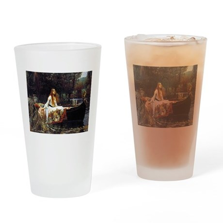 The Lady Of Shalott Drinking Glass