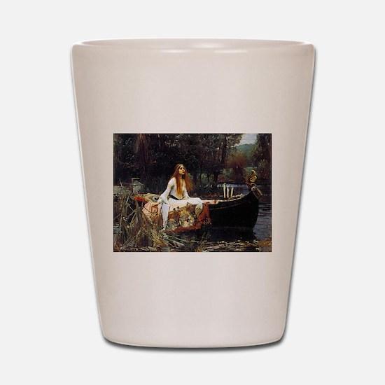The Lady Of Shalott Shot Glass