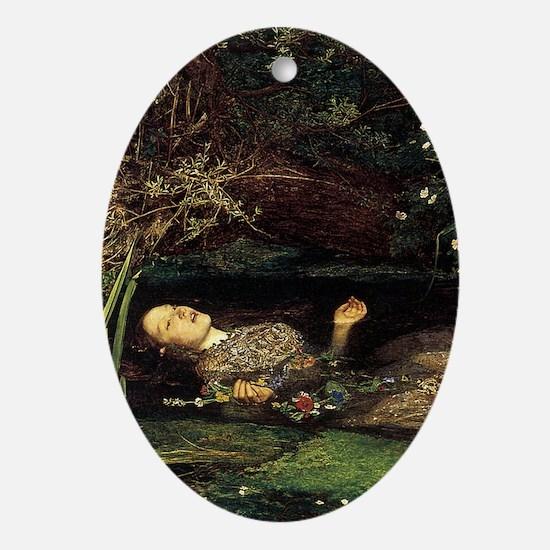 Millais Ophelia Ornament (Oval)