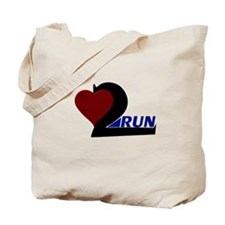 Heart 2 Run Tote Bag