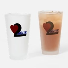 Heart 2 Run Drinking Glass
