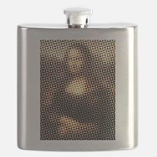 Mona Lisa Halftone Flask