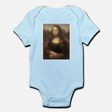 Mona Lisa Halftone Infant Bodysuit