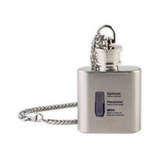 MBA Half Full Flask Necklace