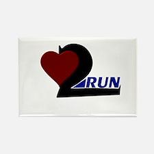 Heart 2 Run Rectangle Magnet