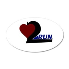 Heart 2 Run Wall Decal
