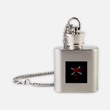 Yarn and Crossbones Flask Necklace