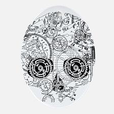 Clockwork Skull Ornament (Oval)
