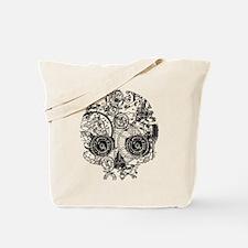 Clockwork Skull Tote Bag