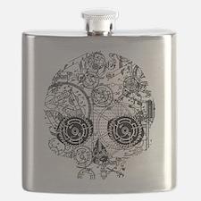 Clockwork Skull Flask