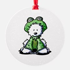 Frog Prince Westie Ornament