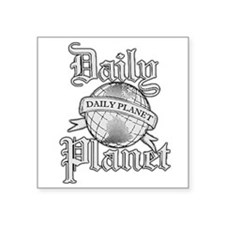 "Daily Planet Square Sticker 3"" x 3"""