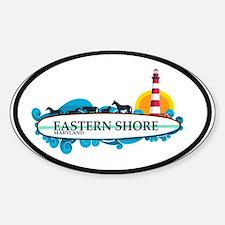 Eastern Shore MD - Surf Design. Sticker (Oval)
