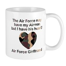 Air Force Girlfriend Heart Camo Mug