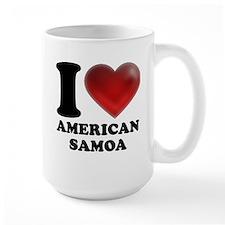 I Heart American Samoa Mug