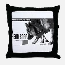 nose work german shepard dog Throw Pillow