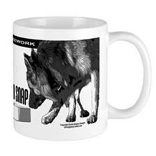 nose work german shepard dog Mug