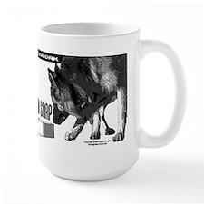 nose work german shepard dog Mug