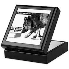 nose work german shepard dog Keepsake Box