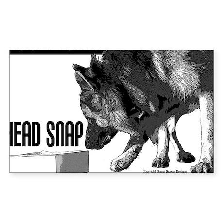 nose work german shepard dog Sticker (Rectangle)