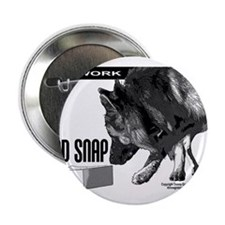 "nose work german shepard dog 2.25"" Button"