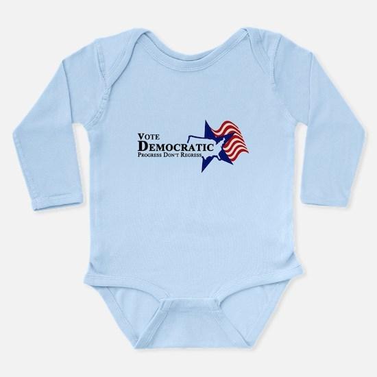 Vote Democratic Progress Long Sleeve Infant Bodysu