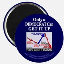 Democrat Get It Up Magnet