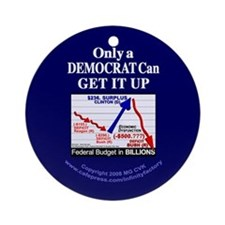 Democrat Get It Up Ornament (Round)