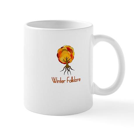winter folklore fall tree novelty tee Mug