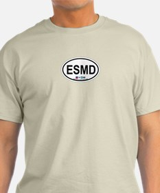 Eastern Shore MD - Oval Design. T-Shirt