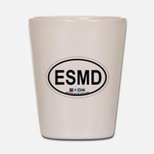 Eastern Shore MD - Oval Design. Shot Glass