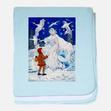 Snow Queen Enhanced Colors baby blanket