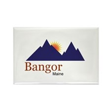 Bangor Maine truck stop novelty tee Rectangle Magn