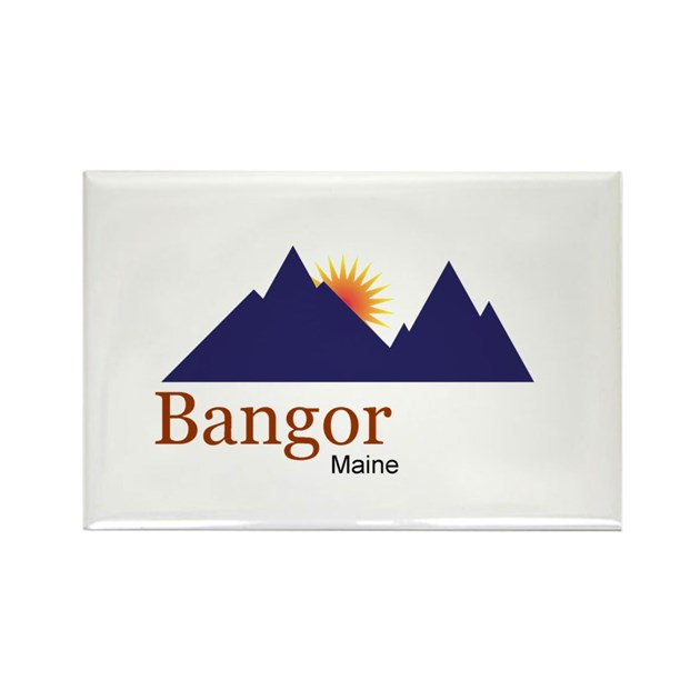 Bangor Maine Truck Stop Novelty Tee Rectangle Magn By Swagshop7