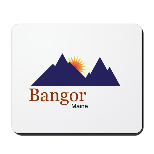Bangor Maine Truck Stop Novelty Tee Mousepad By Swagshop7