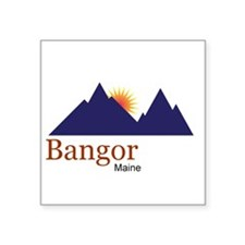 Bangor Maine truck stop novelty tee Square Sticker