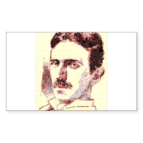 Nikola Tesla Sketch Sticker (Rectangle)