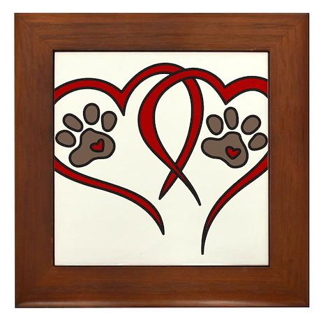 Puppy Love Framed Tile
