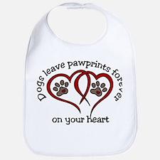 Pawprints Bib