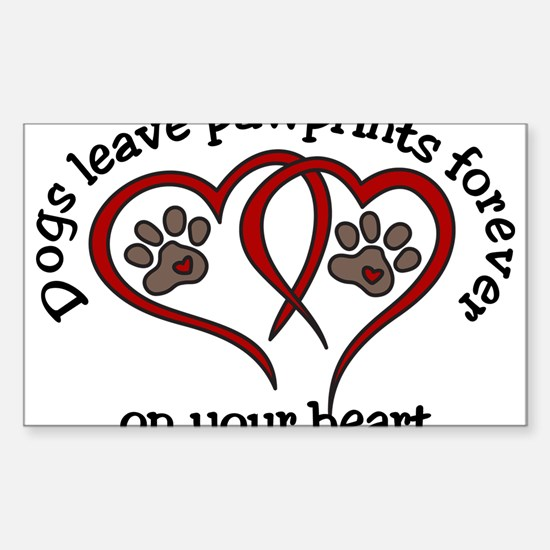 Pawprints Sticker (Rectangle)