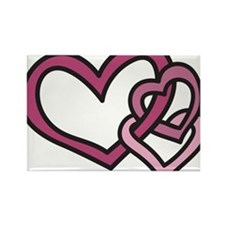 Linked Hearts Rectangle Magnet