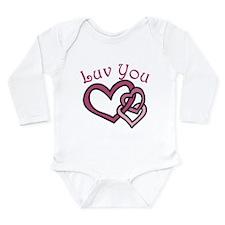 Luv You Long Sleeve Infant Bodysuit
