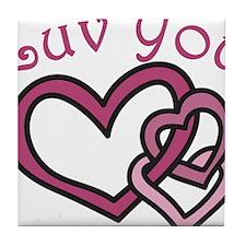 Luv You Tile Coaster