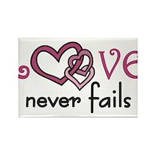 Love Never Fails Rectangle Magnet